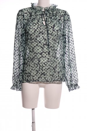 Boden Transparent Blouse khaki-black flower pattern casual look