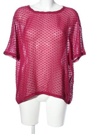 Boden Transparenz-Bluse rot Elegant