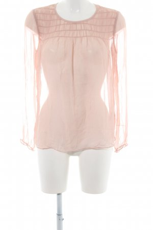 Boden Transparenz-Bluse creme Casual-Look