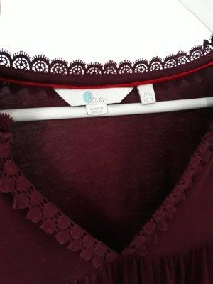 Boden Tunique-blouse bordeau-rouge mûre