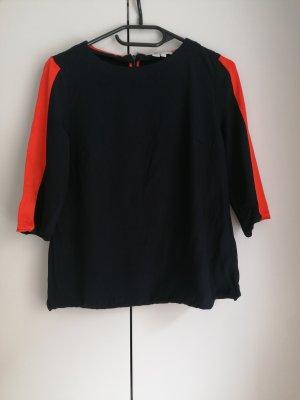 Boden Tunika Top Shirt blau rot UK8 XS 34 wie neu