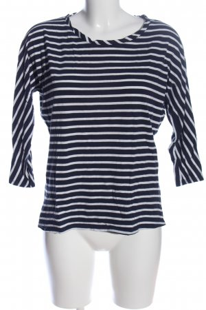 Boden Boatneck Shirt black-white striped pattern casual look