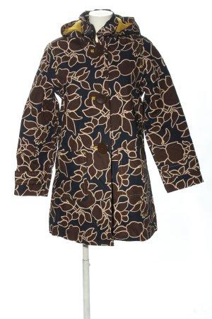 Boden Between-Seasons-Coat black-brown allover print casual look