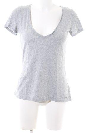 Boden V-Ausschnitt-Shirt hellgrau meliert Casual-Look