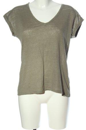 Boden Koszulka z dekoltem w kształcie litery V khaki Melanżowy W stylu casual