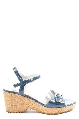 Boden Wedges Sandaletten blau Casual-Look