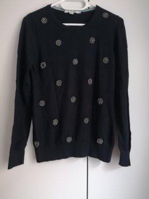 Boden Wool Sweater dark blue-blue wool