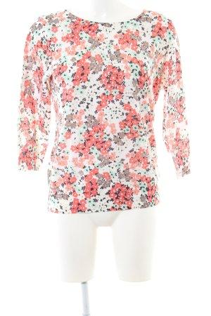Boden Pull en laine rose-blanc imprimé allover style décontracté