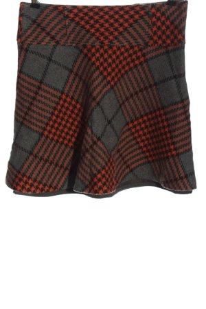 Boden Falda de lana rojo-gris claro estampado repetido sobre toda la superficie