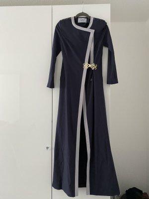 Manteau long bleu foncé