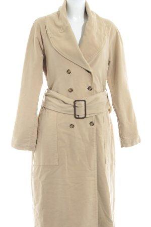 bodenlanger Mantel beige