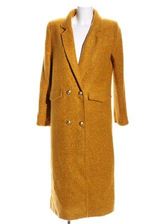 Cappotto lungo fino a terra arancione chiaro stile casual