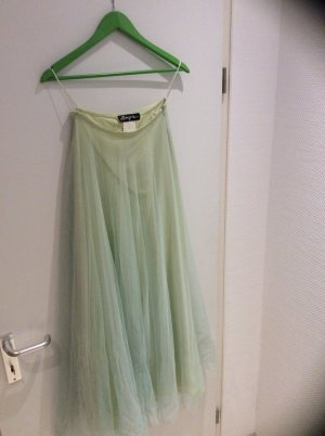 Angie Taffeta Skirt lime-green-pale green silk