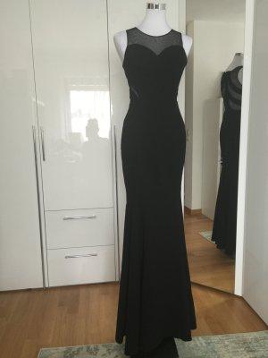 Bodenlanges Abendkleid in schwarz, Größe 36