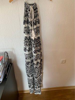 Airisa Robe trapèze blanc-noir