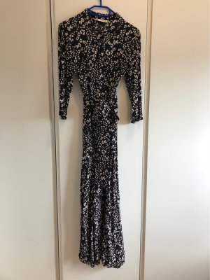 Zara Robe longue noir-blanc cassé