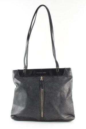 Bodenschatz Handtasche schwarz-hellgrau Business-Look