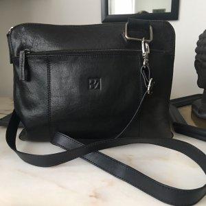 Bodenschatz Tasche schwarz Leder neuwertig