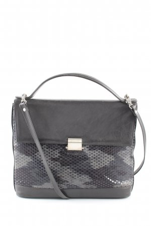 Bodenschatz Crossbody bag black-light grey abstract pattern business style