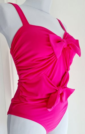 Body koszulowe różowy neonowy