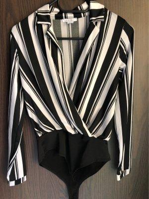 Amisu Bodysuit Blouse white-black