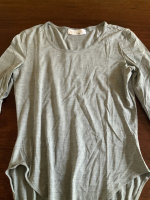 Escada Basic Bodysuit silver-colored silk