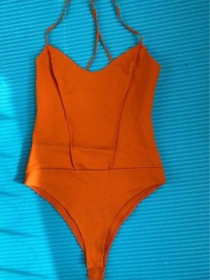 Zara Top schiena coperta arancione