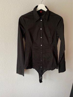 Body- Bluse schwarz Gr: S