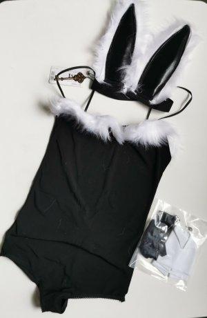 Set lingerie bianco-nero