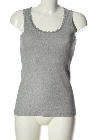 Body by Tchibo Top basic grigio chiaro puntinato stile casual
