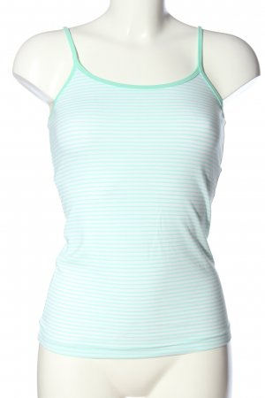 Body by Tchibo Spaghetti Strap Top turquoise-white allover print casual look
