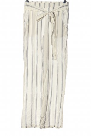 Body by Tchibo Jersey Pants natural white-light grey striped pattern casual look