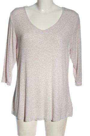 Body by Tchibo T-shirt col en V blanc cassé-blanc moucheté élégant