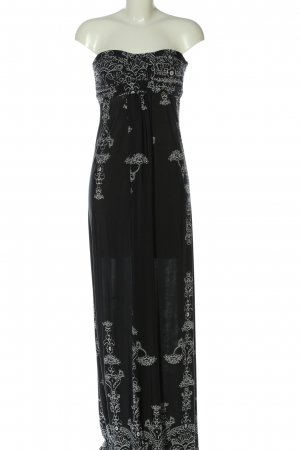 Body Cover Maxi-jurk zwart-wit abstract patroon casual uitstraling