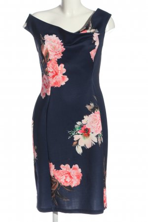 BODY FLIRT Robe fourreau bleu-rose motif de fleur élégant