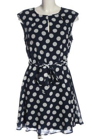 BODY FLIRT A-Linien Kleid blau-weiß Allover-Druck Casual-Look