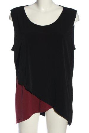 BODY FLIRT Bluzka bez rękawów czarny-czerwony W stylu casual