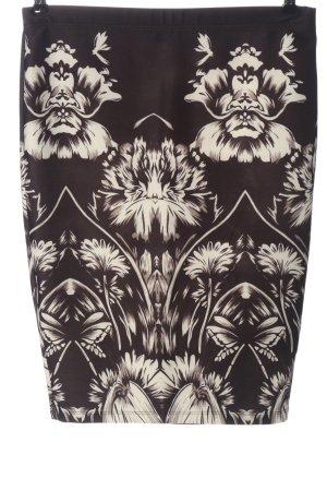 BODY FLIRT Kokerrok bruin-wit abstract patroon casual uitstraling