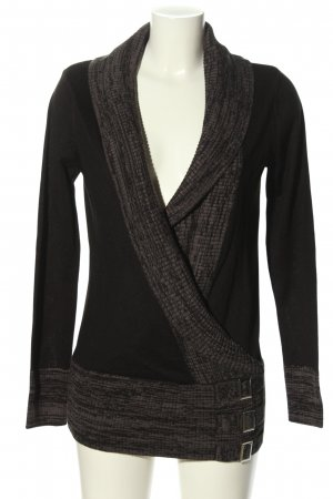 BODY FLIRT Knitted Wrap Cardigan black-brown casual look