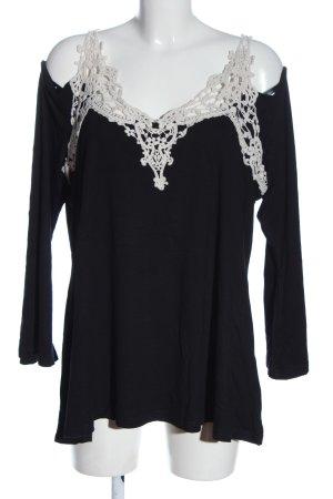 BODY FLIRT Carmen blouse zwart-wit casual uitstraling