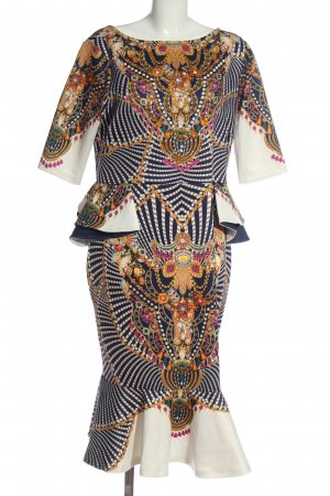 BODY FLIRT Sukienka koktajlowa Abstrakcyjny wzór Elegancki