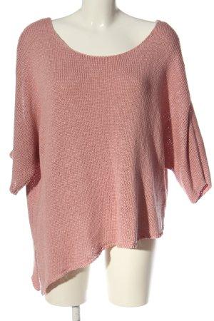 BODY FLIRT Pull en crochet rose style décontracté