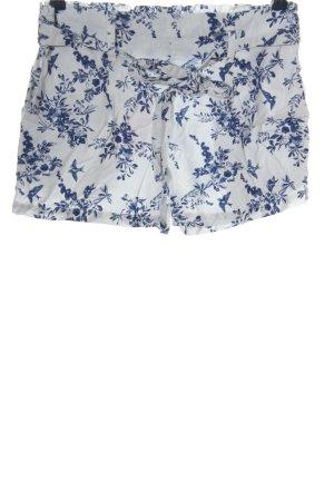BODY FLIRT Hot Pants weiß-blau Allover-Druck Casual-Look