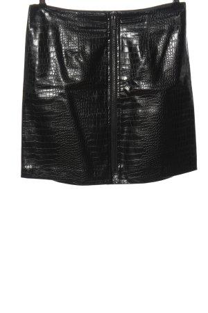 BODY FLIRT Jupe en cuir synthétique noir motif animal style décontracté