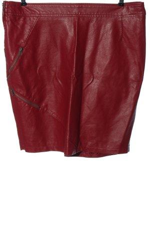 BODY FLIRT Jupe en cuir synthétique rouge style décontracté