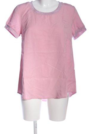 BODY FLIRT Kurzarm-Bluse pink meliert Casual-Look