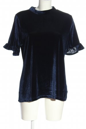 BODY FLIRT Bluzka z krótkim rękawem niebieski Z połyskiem