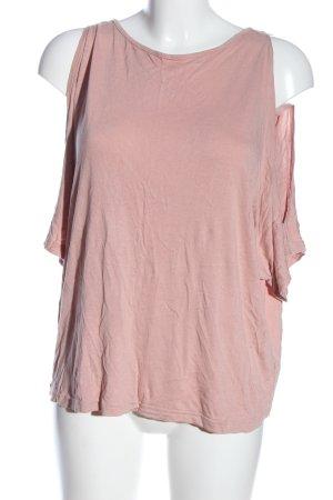 BODY FLIRT Blouse à manches courtes rose style décontracté
