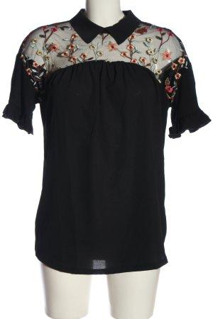BODY FLIRT Kurzarm-Bluse schwarz Casual-Look