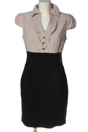 BODY FLIRT Sukienka z krótkim rękawem w kolorze białej wełny-czarny